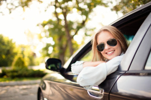 108653897 Car Smiling Woman
